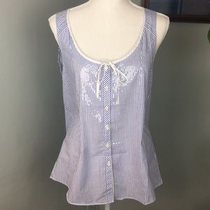 J. Crew striped lightweight tank with sequins. (6)